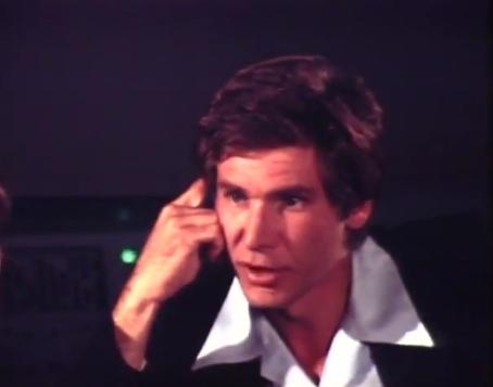 A rare occurance - Harrison Ford talking Star Wars, 1977.