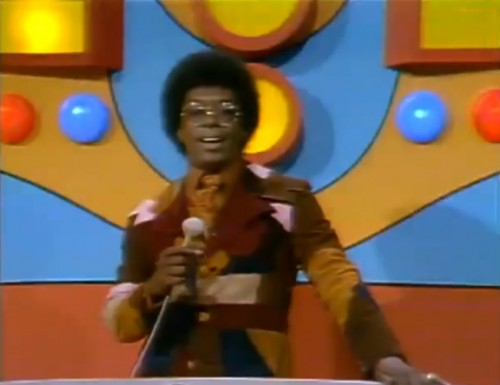 The always stylish Don Cornelius hosting 'Soul Train,' late 1971.