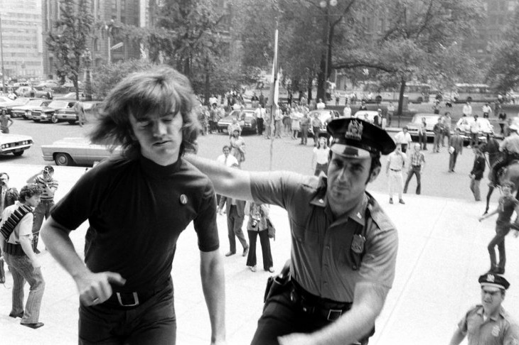 Gay Activists Alliance President Jim Owles submits to arrest, 1971  (Photo: Grey Villet—Time & Life Pictures/Getty Images)