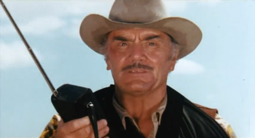 Ernest Borgnine as Sheriff Lyle 'Cottonmouth' Wallace in Convoy, 1978
