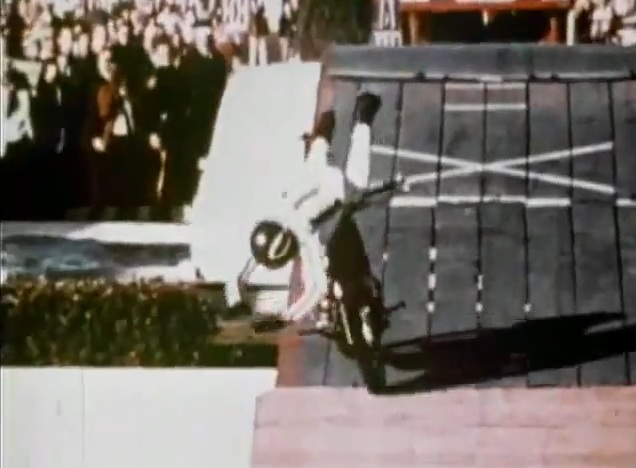 Stay for the footage of Knievel cracking himself to pieces