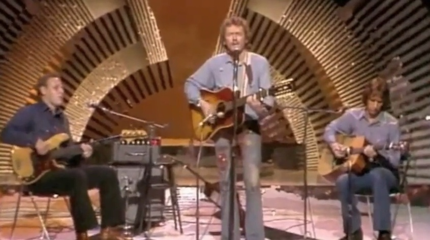 Who ordered the folksy 70s trio shot?