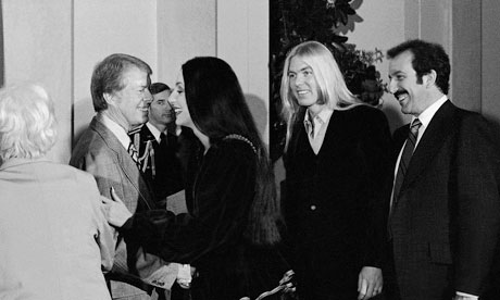 A rock 'n' roll summit circa 1977; Jimmy Carter, Cher, Gregg Allman