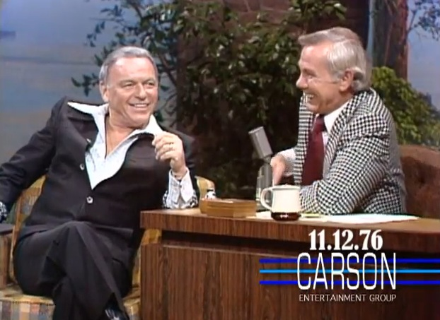 "Johnny Carson to Frank Sinatra: ""When you're in a romantic mood...when you're trying to make out. Whose records do you put on?""