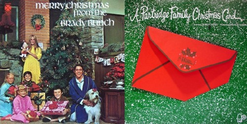 The Brady Bunch and The Partridge Family Christmas L.P.s (1970/1971)