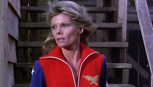 Cathy Lee Crosby as 'Wonder Woman,' 1974