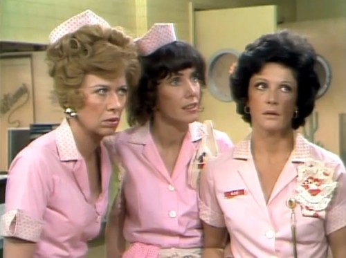 The pride of Mel's Diner: Flo (Polly Holiday,) Vera (Beth Howland,) and Alice (Linda Lavin,) 1976