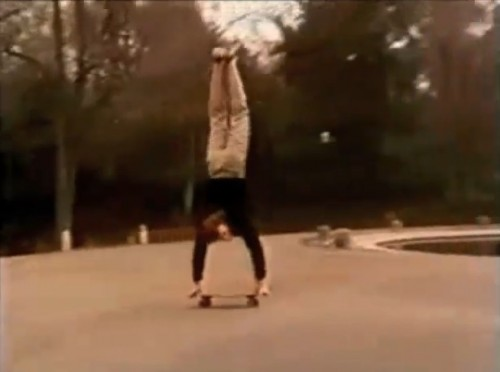 The second skateboard handstand photo I've posted this week. Freestylin'! (Jean's West, 1978)