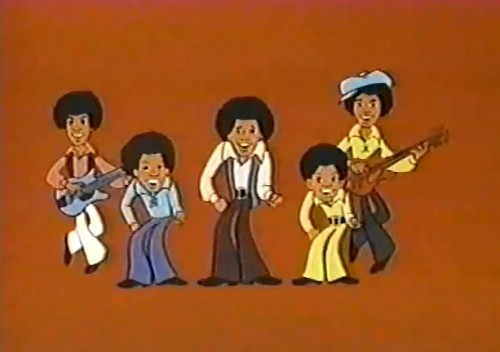 Not the real thing, but an incredible simulation  ('Jackson 5ive' cartoon, 1971)