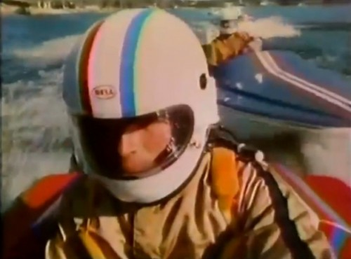 Remember, kids - speed boats and drinking don't mix (Pabst Blue Ribbon, 1977)