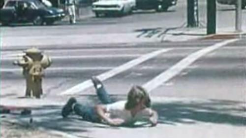 Dude took a spill. ('Skateboard Sense,' mid-1970s)