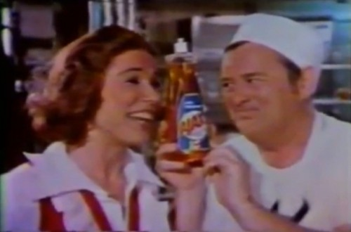 'You and Ajax sure know how to treat a lady...' (Ajax Dishwashing Liquid, 1977)