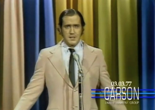 Andy Kaufman freaking out America, 1977