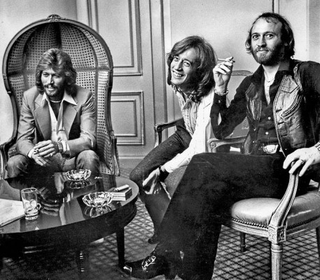 Bee Gees Grammy Awards chat, Jan. 1979 (Mary Frampton/Los Angeles Times)