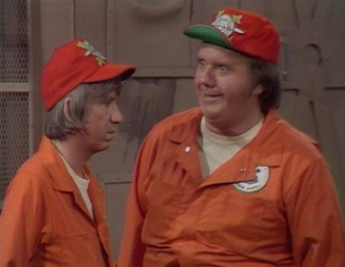 Junior (Bob Denver) and Barney (Chuck McCann) - the 'Far Out Space Nuts'