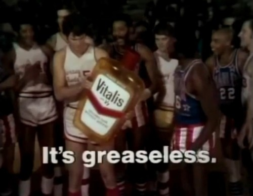 Meadowlark Lemon hates greasy hair! (Harlem Globetrotters for Vitalis, 1971)