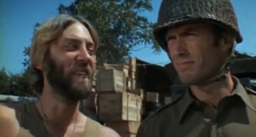Oddball (Donald Sutherland) and Kelly (Clint Eastwood)
