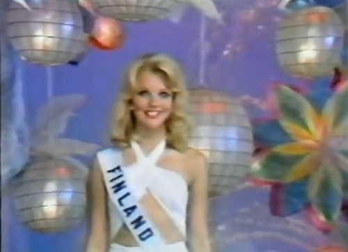 Winner, 'Miss Photogenic,' Johanna Raunio of Finland. ('Miss Universe 1974')