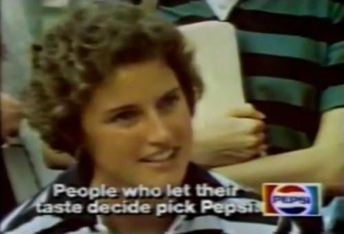 """We asked these students at Tulane University to have a little fun conducting their own Pepsi Challenge."" (1977)"