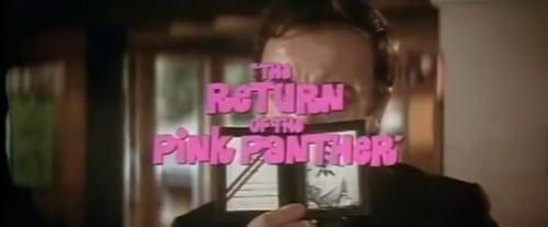 'The Return of the Pink Panther' trailer title, 1975