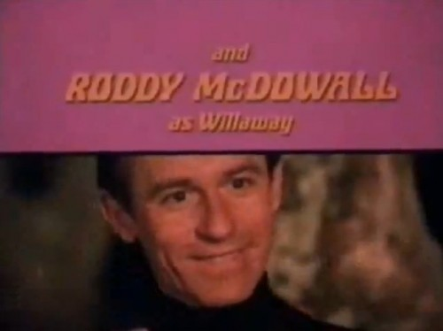 The omnipresent Roddy McDowall as 'rebel scientist,' Jonathan Willaway.