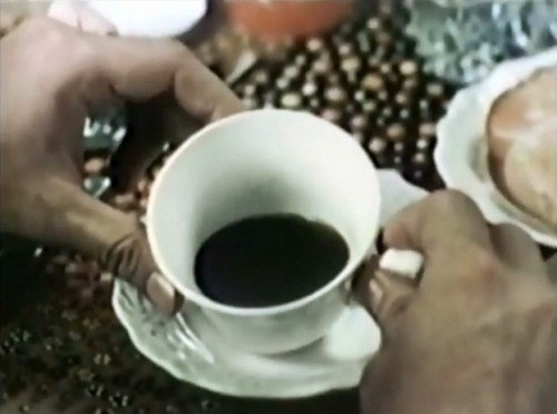 Your morning ration of coffee. (Brim commercial, 1973)