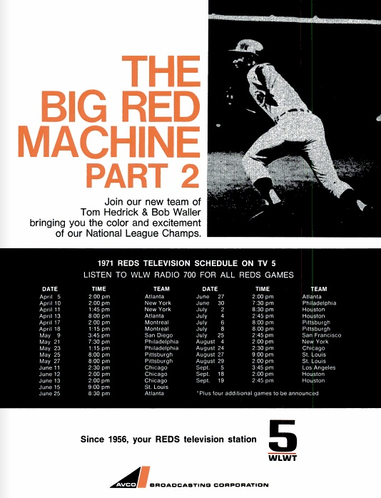 Cincinnati_Magazine_Reds_TV_Schedule_April_1971
