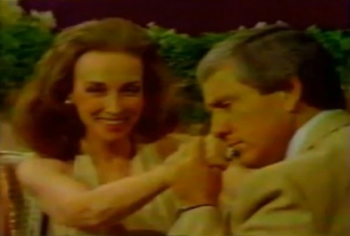 Merv Griffin takes one on the jaw from Helen Gurley Brown (1977)