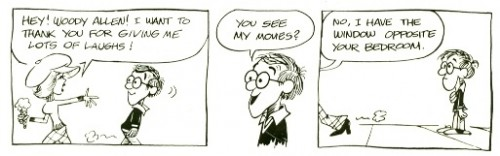 'Inside Woody Allen' comic strip, 1978
