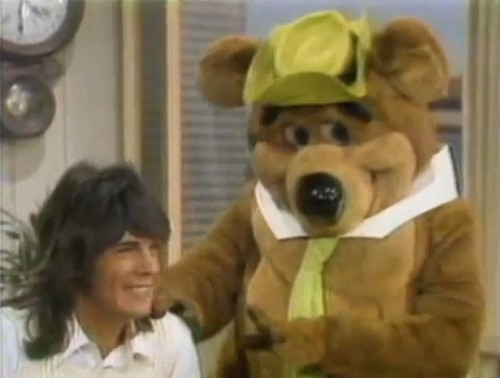 Rick Springfield and Yogi Bear. The magic of the 70s never ceases to amaze. ('Saturday Morning Sneak Peek,' 1973)