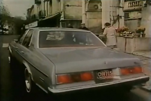 """In Europe, to show that an American car can challenge the highways of the world."" (Chevrolet Concours, late 1970s)"