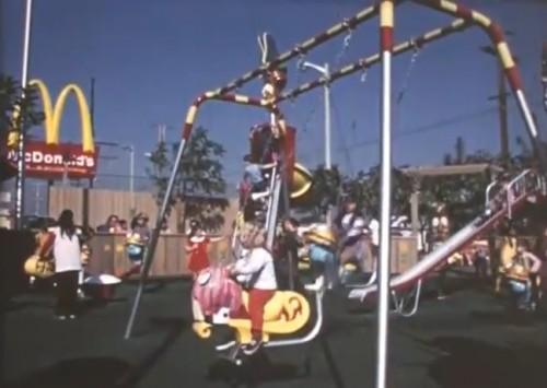 Huge crowds at the first McDonaldland opening. ('McDonald's Setmakers,' 1972)
