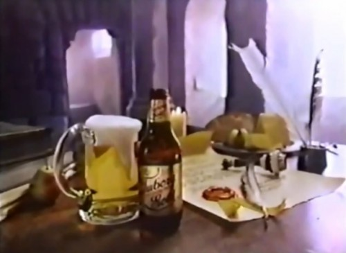 Brewed for kings. Quaffed by peons.  (Tuborg Gold, 1977)