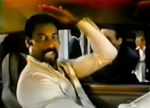 Wilt Chamberlain says it's all about the headroom. (Volkswagen Rabbit, 1979)