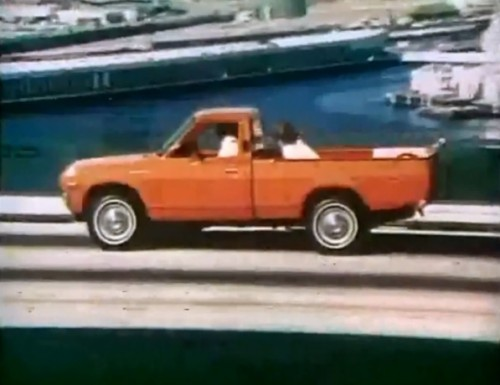 They were going to call it the 'Wee Huckster' but they changed their minds. (Datsun 'Lil' Hustler,' 1975)