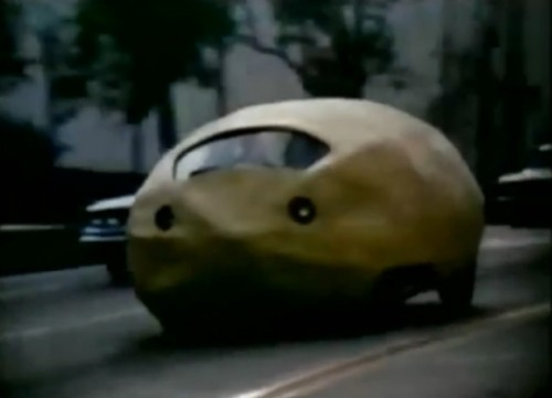 That's a 'Citron,' not a 'Citroën.' (STP commercial, 1971)
