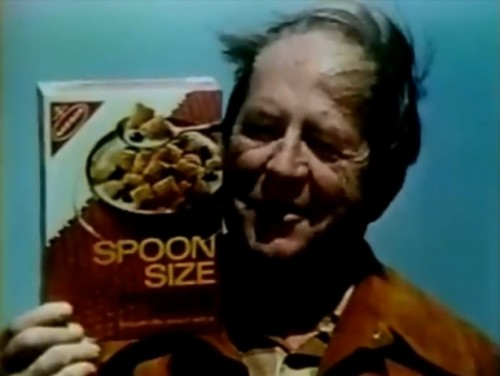 """Crunchy, natural goodness in every bite."" (Spoon Size Shredded Wheat, 1972)"