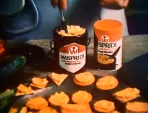 Spreadable cheese...don't cha know. (Wispride, 1975)