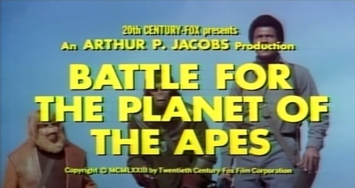 'Battle for the Planet of the Apes' trailer title, 1973