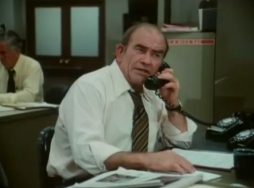 Ed Asner as the lovable grouch, Lou Grant (1977)