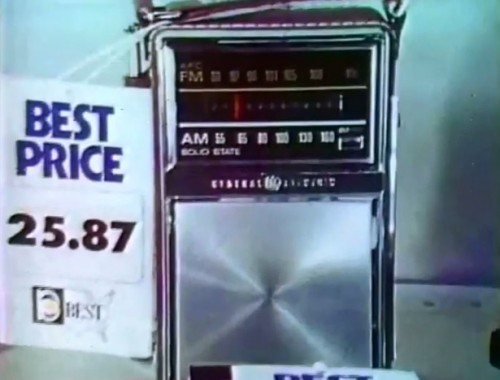 An AM/FM radio for only $25.87? That's something like $4,500 in today's money. Give or take.