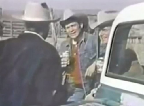 The revisionist Western movement of the 1970s was so deep it hit this horse drive with trucks and helicopters (Lone Star commercial, 1972)