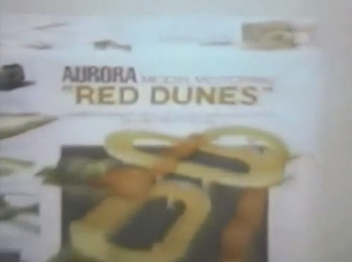 These Sand Vans are so fast even the power supply has a racing stripe! (Aurora 'Red Dunes' model race cars set, 1972)