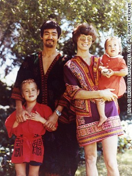 The Lee family; Bruce, wife , Linda, son, Brandon and daughter, Shannon (Early 1970s)
