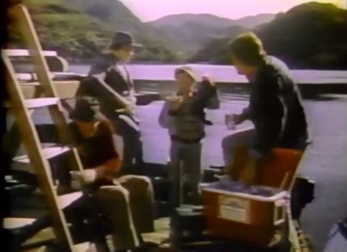 Fishin' up boots and drinkin' Bud (Budweiser, 1977)