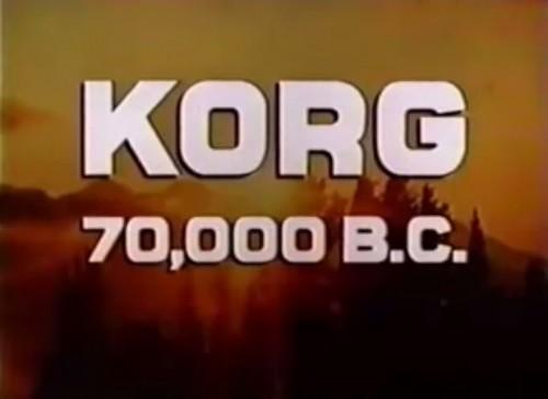 'Korg: 70,000 B.C.' TV intro, 1974
