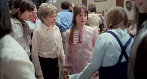 The cast of 'Melody' (L-R): Jack Wild, Mark Lester and Tracy Hyde