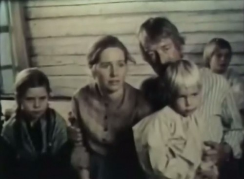 A young Swedish family arrives just in time for the first fireworks display ('The New Land,' ABC promo, 1976)