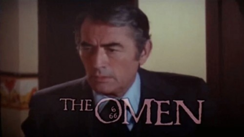 Gregory Peck, 'The Omen' trailer title, 1976