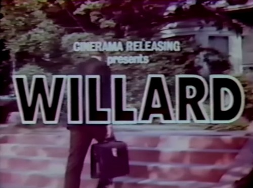 'Willard' TV trailer title, 1971